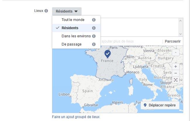 Définir le lieu de résidence de vos cibles lors de campagne de pub Facebook